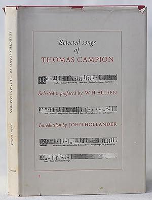 Selected Songs of Thomas Campion: Auden, WH & Hollander John
