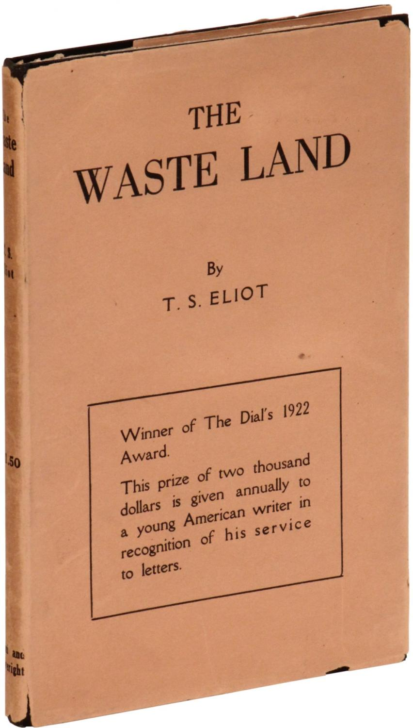 "the waste land by t s eliot essay In the waste land, ts eliot's narrator refers to ""your shadow at morning  in  her essay ""the church and the fiction writer,"" she wrote, ""i have."