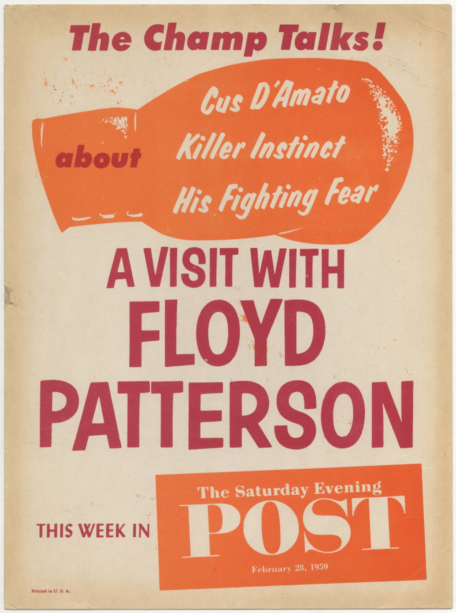 Poster]: A Visit with Floyd Patterson  This