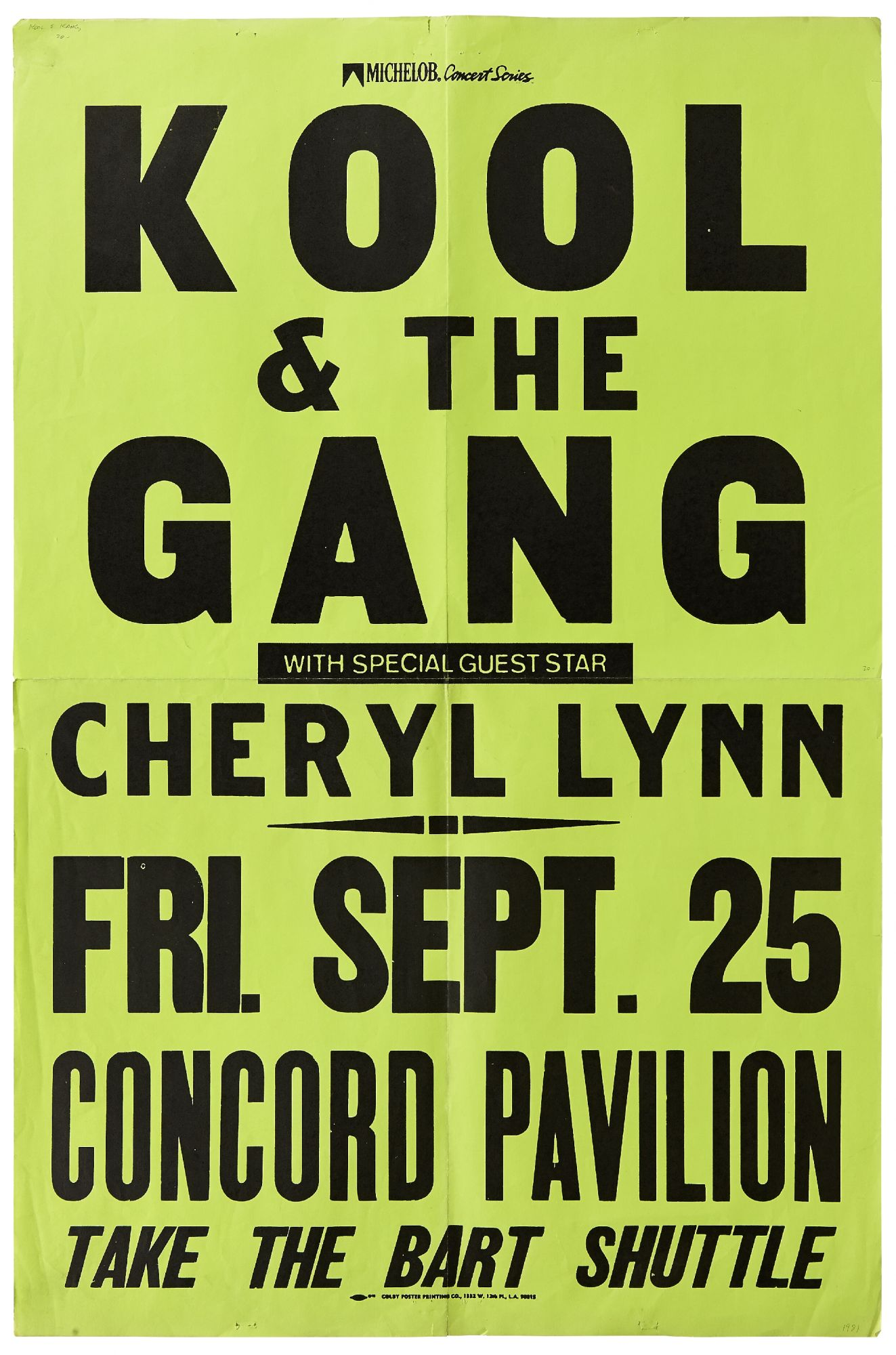 Poster]: Kool & The Gang with Special Guest