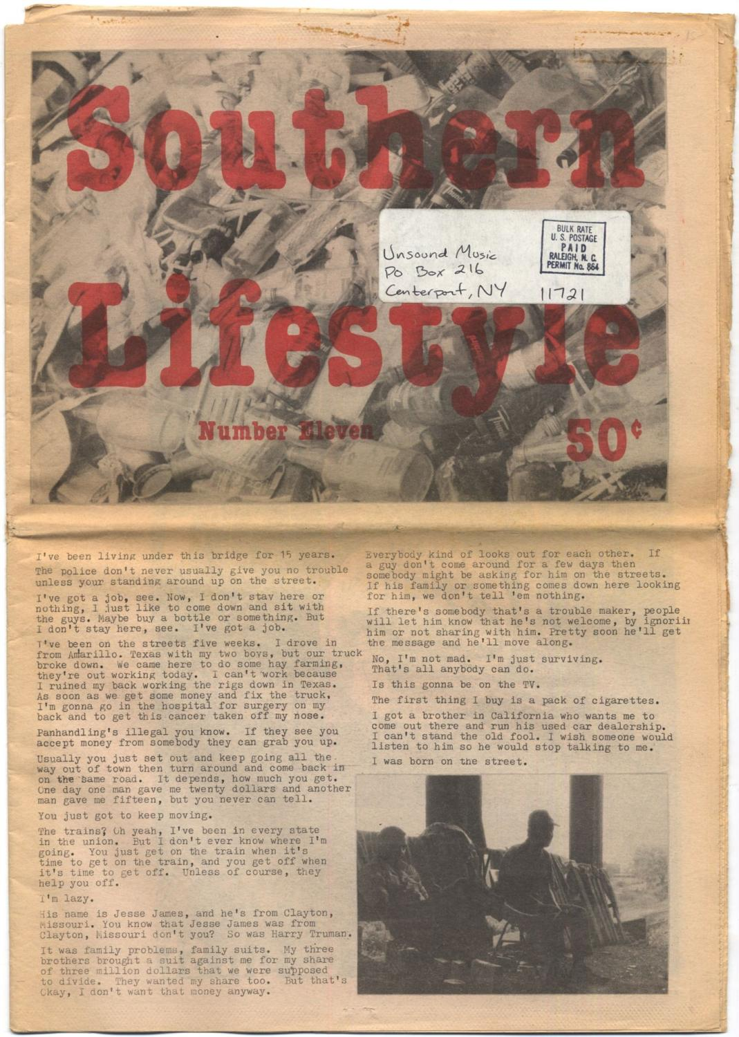 Southern Lifestyle Magazine - Number Eleven Near Fine Tabloid magazine. Newspaper wrappers. Near fine with some light wear at extremities. A sparse but interesting magazine including a interview with a da