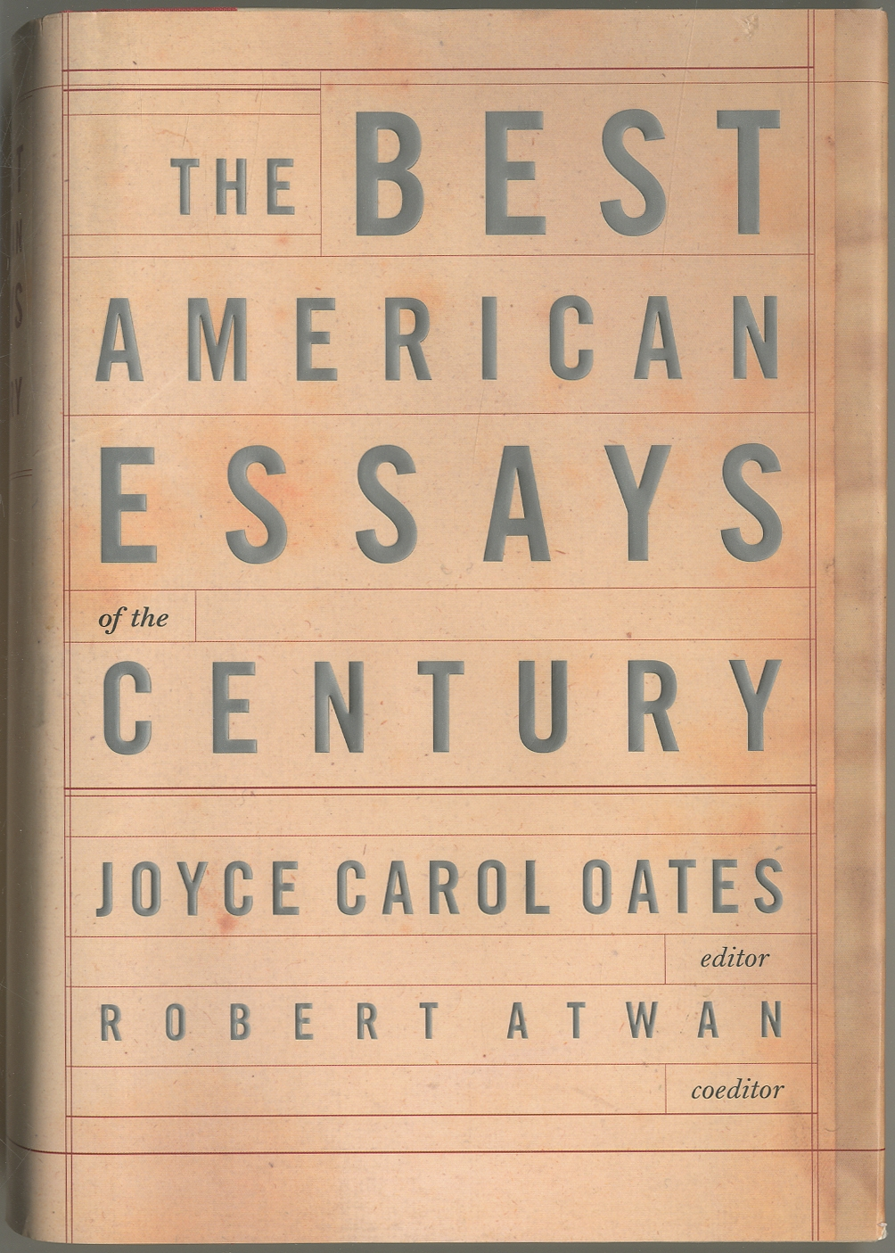 the best american essays of the century edited by joyce carol oates