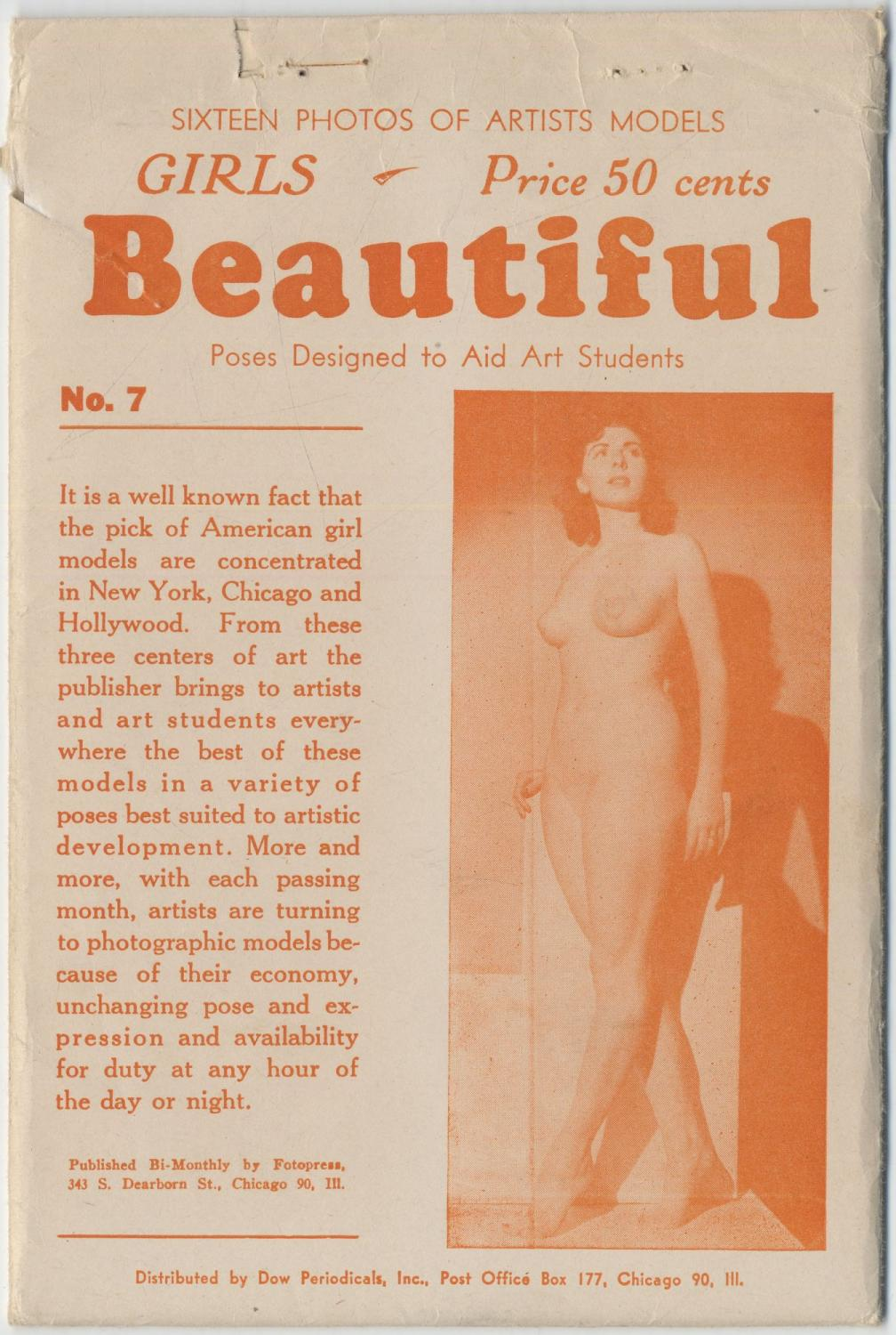 Sixteen Photos of Artists Models. Girls Beautiful Poses Designed to Aid Art Students. No. 7