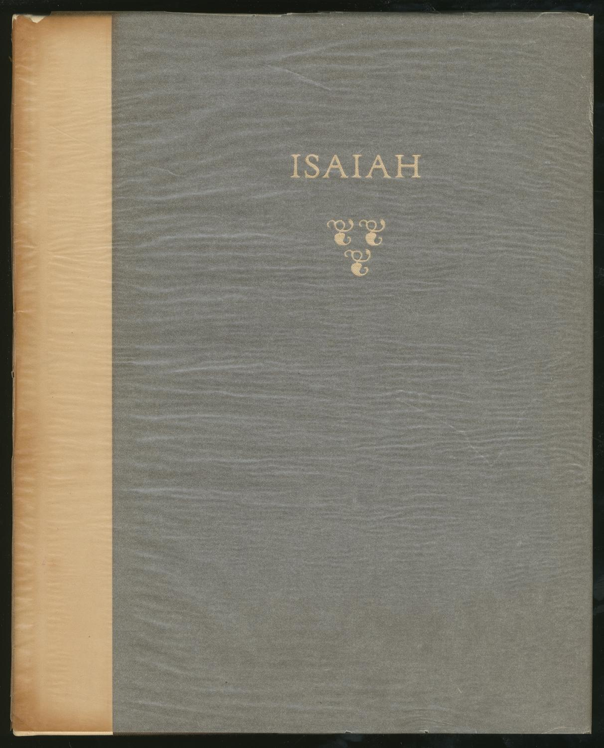 The Book of the Prophet Isaiah ISAIAH Near Fine