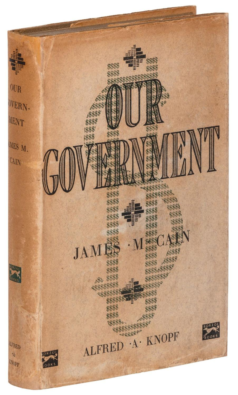 Our_Government_CAIN_James_M_Très_bon_Couverture_rigide