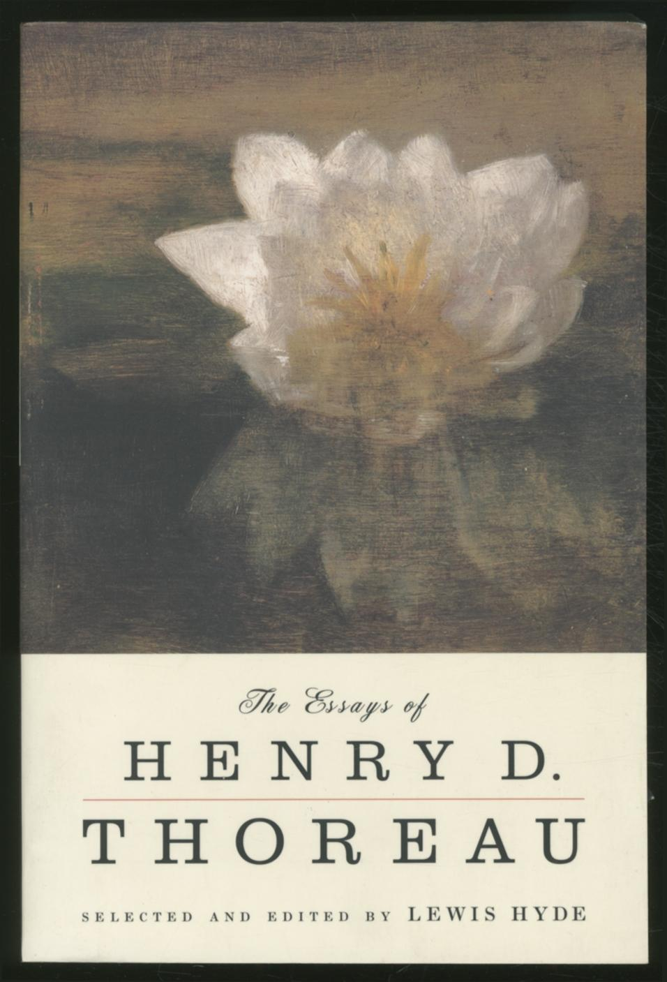thoreau henry david essays