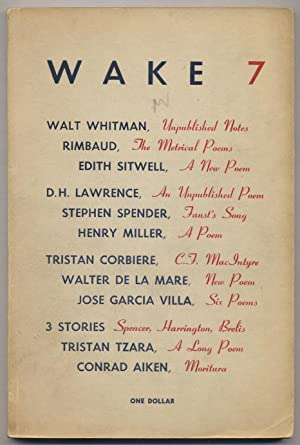 Wake -- 7 (Autumn 1948): CREELEY, Robert, Henry