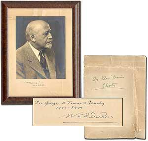 Inscribed Portrait Photograph of W.E.B. Du Bois
