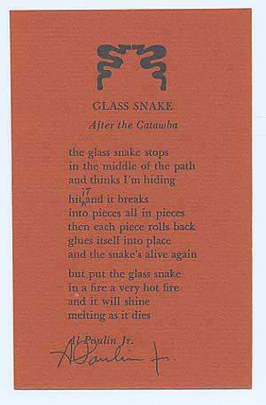 Glass Snake: POULIN, Al, Jr.