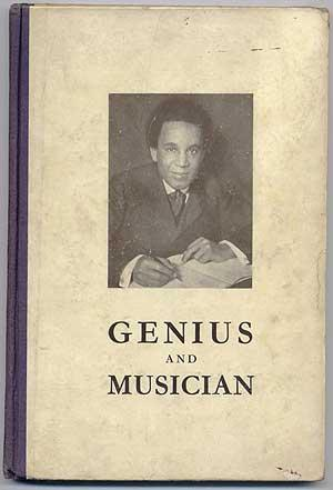 Genius and Musician: S. Coleridge Taylor 1875-1912;: COLERIDGE-TAYLOR, Mrs. J.F.