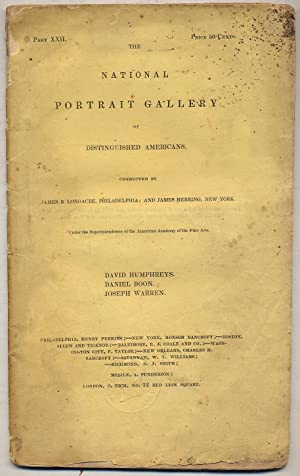 The National Portrait Gallery of Distinguished Americans: LONGACRE, James B.