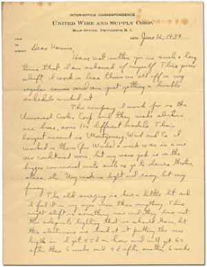Autograph Letter Signed from an African-American Factory Worker