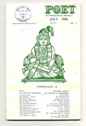 Poet: An International Monthly, July, 1986, Volume: SRINIVAS, Dr. Krishna,