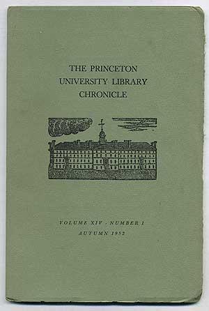 The Princeton University Library Chronicle Volume XIV: IRVING, Washington, Alexander