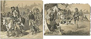 [Original Art]: Two Original Illustrations of Confederate in the Civil War