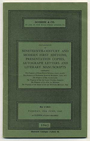 Catalogue of Nineteenth-Century and Modern First Editions,