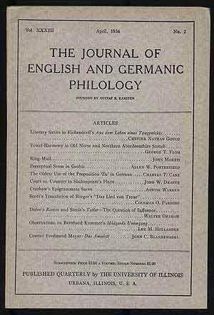 The Journal of English and Germanic Philology: