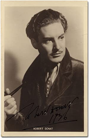 Vintage Signed Photograph of Robert Donat