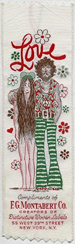 Textile Bookmark]: Love: Compliments of F.G. Montabert