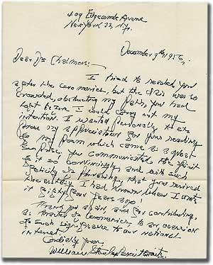 Autograph Letter Signed to Allan Knight Chalmers