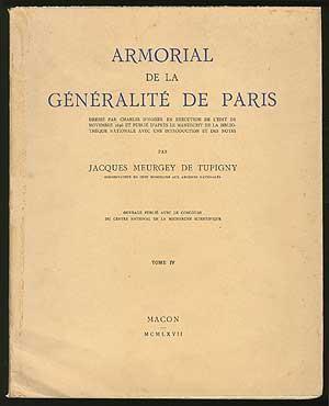 ARMORIAL DE LA GENERALITE DE PARIS. Tome: DE TUPIGNY, JACQUES