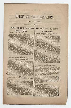 Spirit of the Campaign. Number Three. Compare the Doctrines of the Two Parties: GRANT, U.S.)