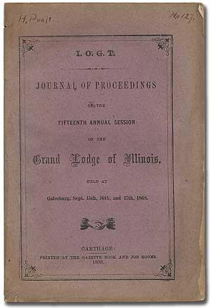 I.O.G.T. Journal of Proceedings of the Fifteenth