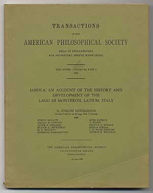 TRANSACTIONS OF THE AMERICAN PHILOSOPHICAL SOCIETY: IANULA: HUTCHINSON. G. EVELYN