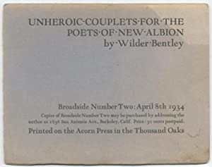 Unheroic Couplets for the Poets of New: BENTLEY, Wilder