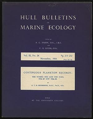 Hull Bulletins of Marine Ecology Volume III: HARDY, A. C.