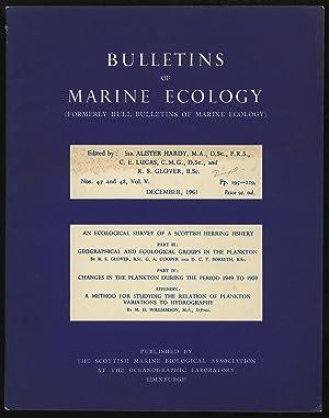 Bulletins of Marine Ecology Volume V Nos.: HARDY, Alister et