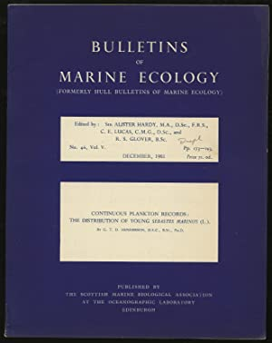 Bulletins of Marine Ecology Volume V No.: HARDY, Alister et