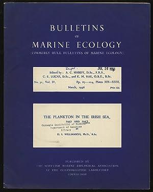 Bulletins of Marine Ecology Volume IV No.: HARDY, A. C.