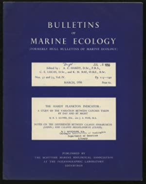 Bulletins of Marine Ecology Volume IV Nos.: HARDY, A. C.