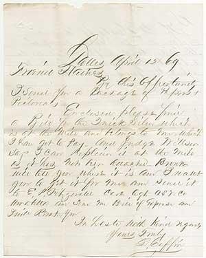 Autograph Letter Signed about Quick Silver in Oregon