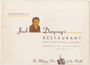 Souvenir Photo Inscribed and Signed by Dempsey
