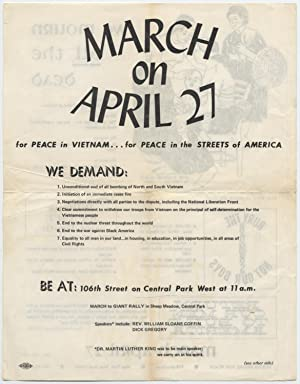 Flyer]: March on April 27 for Peace in Vietnam.for Peace in the Streets of America. We Demand.