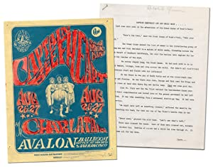 [Flyer] Captain Beefheart and His Magic Band. The Charlatans. Avalon Ballroom [with Press Release...