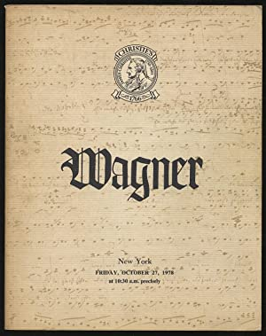 The Richard Wagner Collection Formed by the