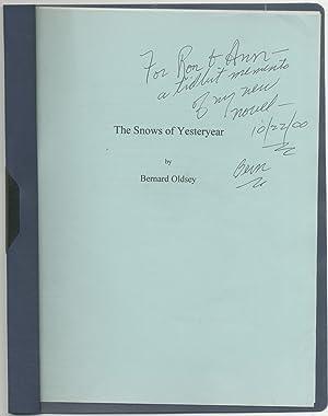Manuscript Excerpt]: The Snows of Yesteryear: OLDSEY, Bernard