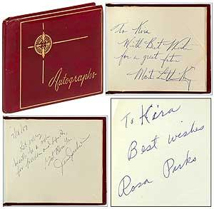 Civil Rights Autograph Album: KING, Dr. Martin
