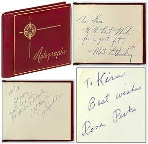 Civil Rights Autograph Album: KING, Dr. Martin