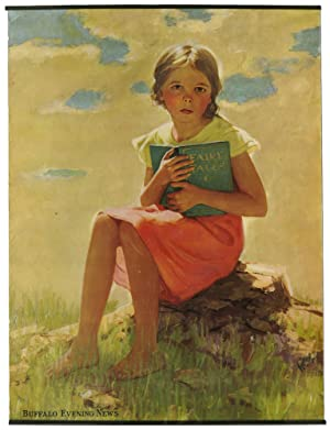 [Poster]: Buffalo Evening News (Girl with Book)