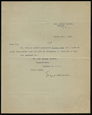 Brief Typed Letter Signed