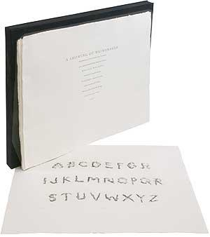 A Showing of Weimaraner. Being Specimens of Letters, Numbers and Punctuation of an original and e...