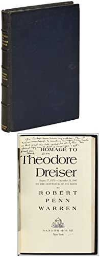 Homage to Theodore Dreiser