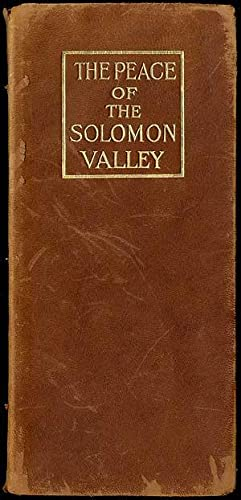 The Peace of the Solomon Valley: McCARTER, Margaret Hill