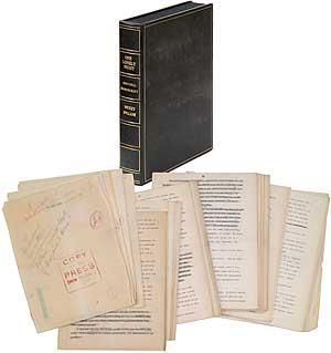 Manuscript]: One Lonely Night: SPILLANE, Mickey