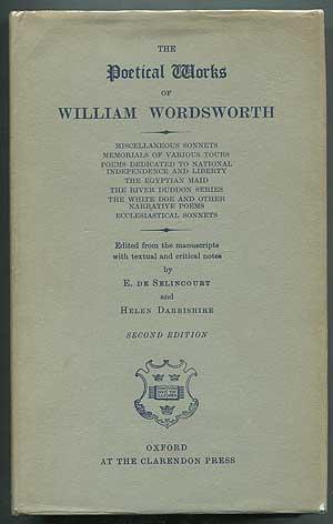 The Poetical Works of William Wordsworth [Volume: WORDSWORTH, William. Edited