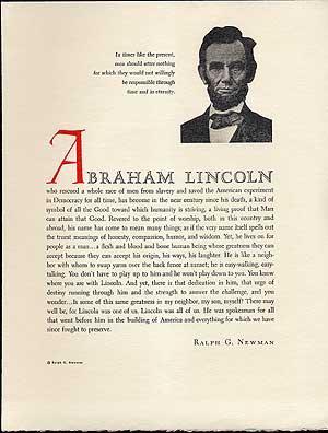Abraham Lincoln: SANDBURG, Carl) NEWMAN,